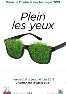 """Affiche """"Plein les yeux"""" Salon de l'herbe et des fourrages 2019"""
